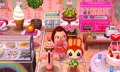 Animal Crossing New Leaf Tea Room Set